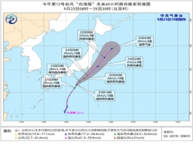 """台风""""白海豚""""强度维持或缓慢减弱 未来对我国无影响"""